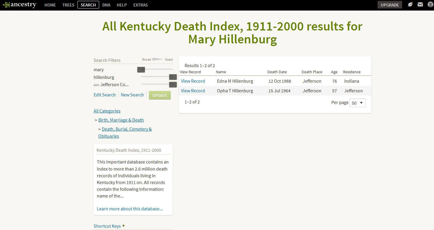 ancestry hillenburg